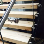 Stainless steel staircase glass railing