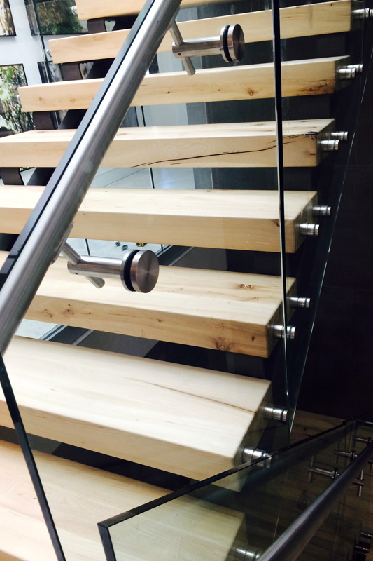 Stainless Steel Staircase Glass Railing ...