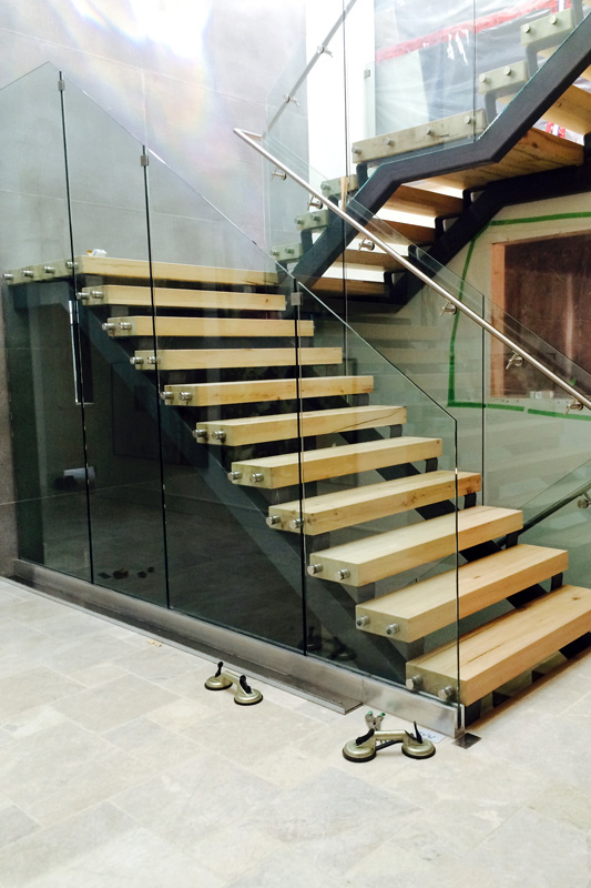 Bon Stainless Steel Staircase Glass Railing; Stainless Steel Staircase Glass  Railing ...