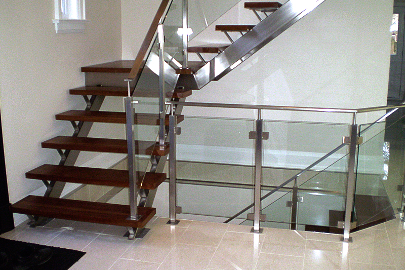 ... Stainless Steel Staircase Glass Railing ...