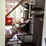 Stainless steel staircase crossbar railing